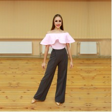 Flounced Bodysuit Pink